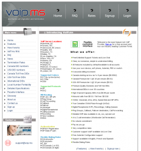 Configure Taki for long distance calls with Voip.ms