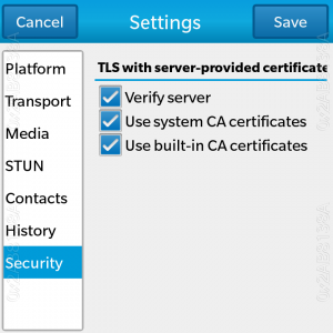 TLS settings for digital certificates validation